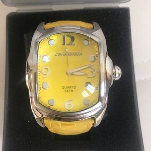 Chronotech yellow watch